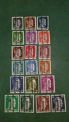 1945 Austria Stamps of Germany Sc#405-423 (19) mint