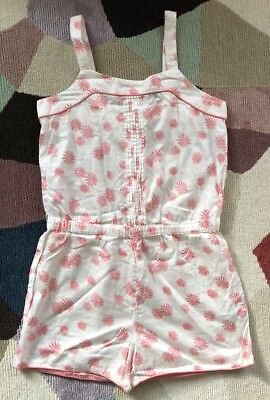 M&S sleeveless cream mix dungarees/playsuit, age 9-10, excellent condition