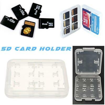 5pcs TF//MS/SD Card Holder Storage Box Micro-SD Card Holder Protector Case Shell