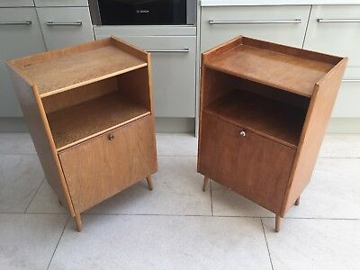 mid century bedside table Cabinets Pair could deliver within central London