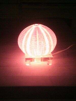 """Vintage Sae Urchin Light on Clear Lucie Stand, 4"""" Wide 4 1/2"""" Tall"""