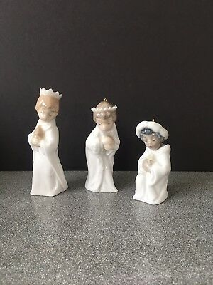 Lladro 5.729 3 Mini Reyes (Mini Kings) Nativity Christmas Ornaments * Figurines