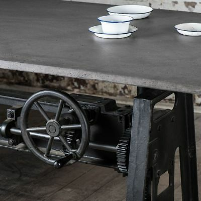 INDUSTRIAL CAST IRON Crank Table Base | Cafe Dining Conference | RRP 3950