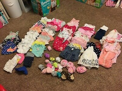 Girl clothes Newborn-24month/2T mostly Carters brands