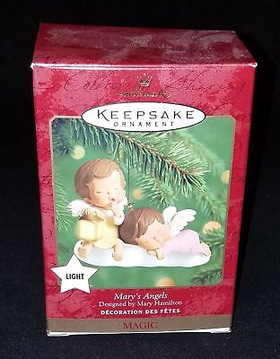 HALLMARK ornament MARY'S ANGELS MAGIC 2000 Light NEW IN BOX never used