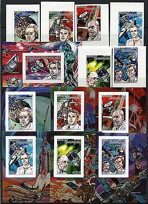 Space Raumfahrt 1987 Central Africa Block 407 1269-74 + Deluxe Imperf MNH /1332