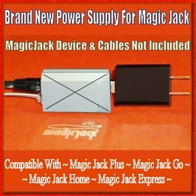 Fix Noise Static Power Supply USB Adapter Wall Charger MagicJack Plus Go Express