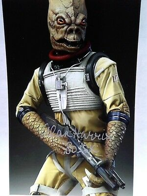 Alan Harris as BOSSK  Authentic Hand Signed 4X6 Photo - THE EMPIRE STRIKES BACK