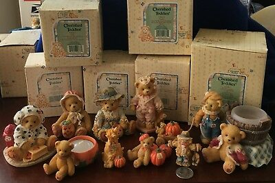 Large Lot Autumnal Halloween Cherished Teddies + 2 Candle Bears 🐻 In Costumes