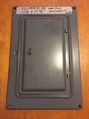 Square D QO Panel Box Cover Electrical circuit breaker cover
