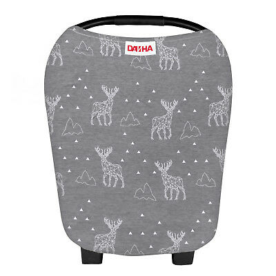 Danha Stretchy Baby Car Seat Covers for Boys and Girls - Carseat Canopy Deer