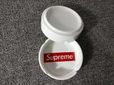 Supreme - 1 x Round Ceramic White Red Ashtray Box Logo