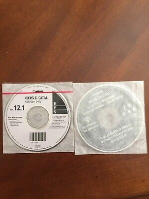 Canon EOS Digital Solution Disk 12.1 and Software Instruction Manual Disc