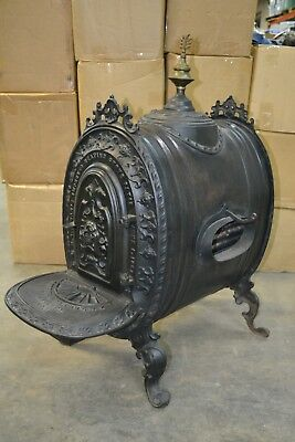 Rare Antique Cast Iron Parlor Heating Stove - Patented 1858 - Ornate, Gorgeous!