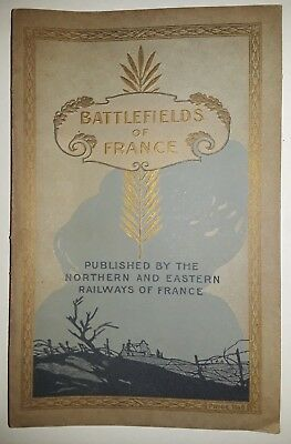 Rare Very Fine Antique 1900's WWI Battlefields of France Book w/Map - No Reserve
