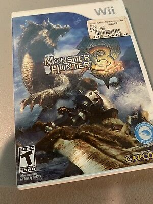 Monster Hunter 3 Tri (Nintendo Wii) Complete CIB - Works Great!