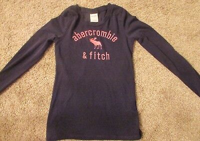 Abercrombie kids long sleeve navy girls shirt large