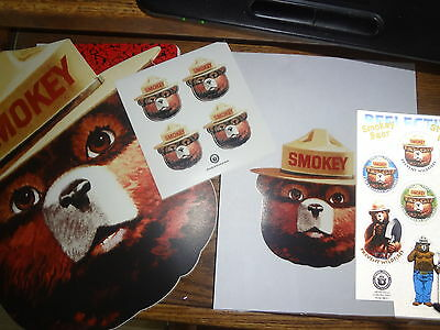 """SMOKEY'S VINYL FACE STICKERS.*August Special.*FOUR 2""""STICKERS **STICKEM UP .**"""