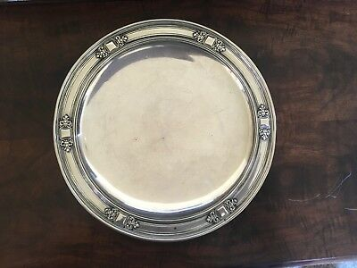 "10"" Art Nouveau Tiffany & Co Sterling Silver Serving Plate Round 20146 H"
