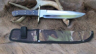 Large Hand Made Bowie Fighting Knife, 1095 High Carbon Steel Blade