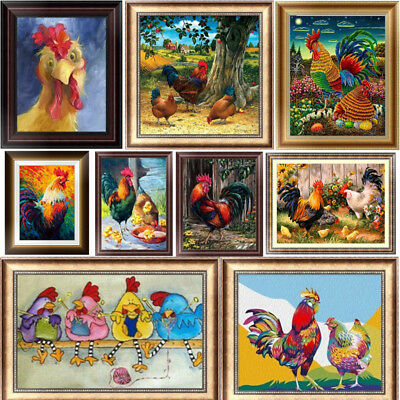 Chicken DIY 5D Diamond Painting Embroidery Animal Cross Stitch Home Decor Gift