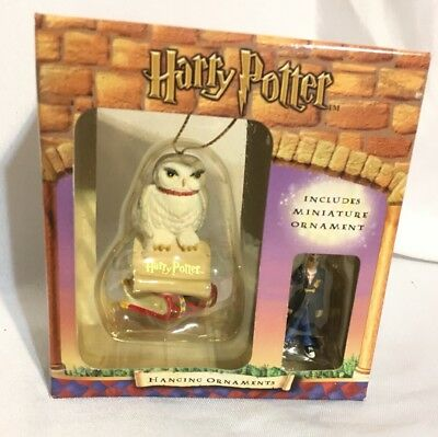 Enesco Hedwig White Owl with Miniature Harry Potter Hanging Christmas Ornaments