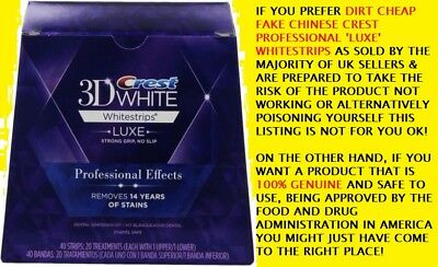 Crest3D Whitestrips Professional Effects~10 Strips=5 Treatments~Not Fake Uk Luxe