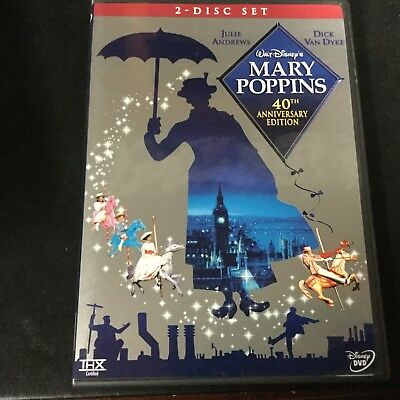 Disney 40th Anniversary Edition MARY POPPINS - Julie Andrew - Dick Van Dyke DVD