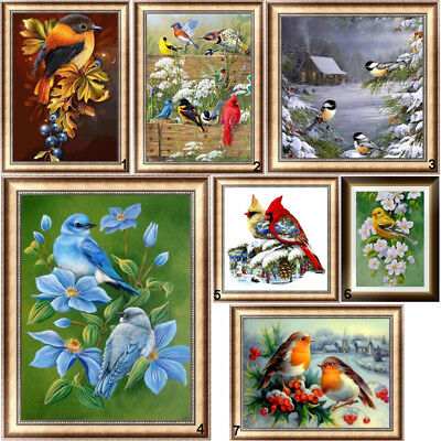 Cute Bird DIY 5D Diamond Painting Embroidery Animal Cross Stitch Kit Home Decor