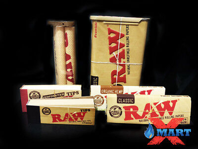 RAW Slide Top Tin + Rolling Machine + Organic Hemp and Classic Papers + Tips