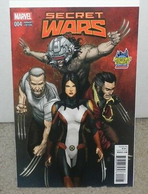 Secret Wars #4 Midtown Exclusive Choi Variant Cover X-23 Wolverine Logan