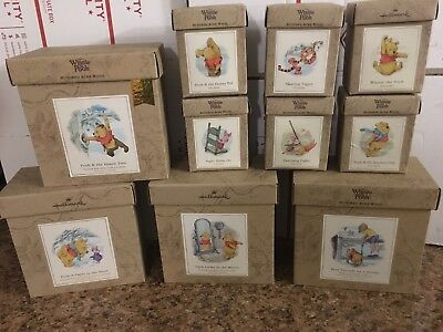 Hallmark Winnie the Pooh Shadow Box 4 large boxes 6 small figures Tigger Piglet