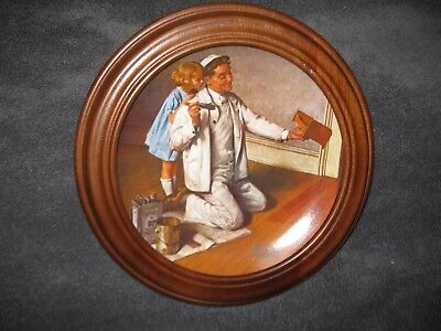 """Norman Rockwell """"The Painter"""" collector plate in a Van Hygan frame"""