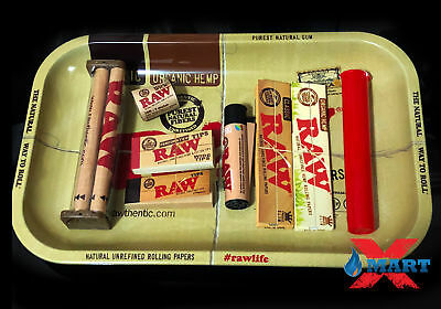 Raw Paper King Size Combo Tray+Papers+Tips+Rolling Machine+Lighter+Doob (B4)