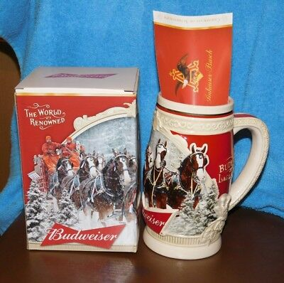"2015 Budweiser Holiday Stein ""First Snow of the Season"" 35th Anniversary Edition"