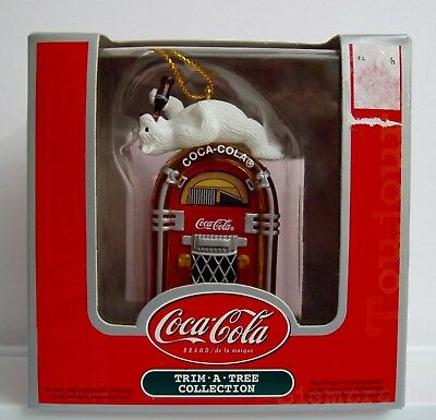 Coca-Cola Trim-A-Tree Juke Box Polar Bear Christmas Collection Ornament Coke