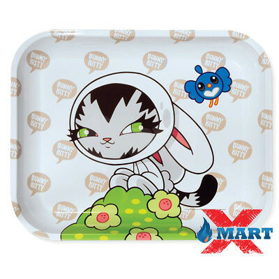 RAW Persue Bunny Kitty Tobacco Metal Rolling Tray LARGE 14x11 *LIMITED EDITION*