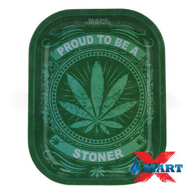 Smoke Arsenal STONER PRIDE Tobacco Metal Small Rolling Tray 7x5