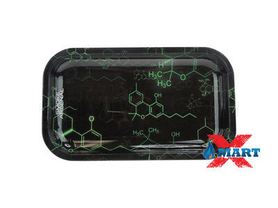 Smoke Arsenal THC MOLECULE Tobacco Metal MEDIUM Rolling Tray 11x7
