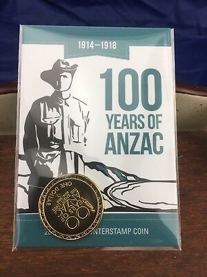"2014-2018 100 Years Of Anzac Counterstamp Coin ""Al"" Albany Unc Decimal Coin."