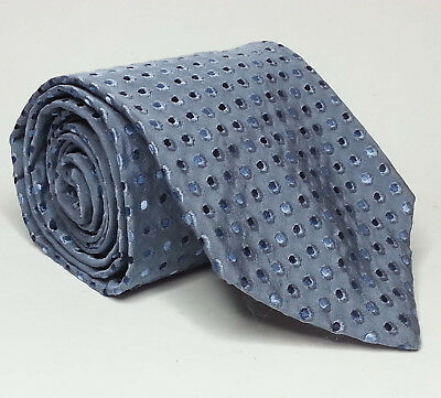"HUGO BOSS Men Dress Necktie SIlk Blue 3.5"" wide 58"" long Italy"