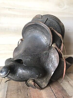 Antique 1940s Western Saddle, Ranch Decor