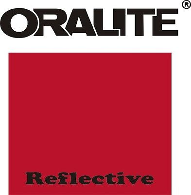 "5 ft Roll x 12"" RED REFLECTIVE Sign Vinyl ORALITE 5300 ADHESIVE Outdoor"
