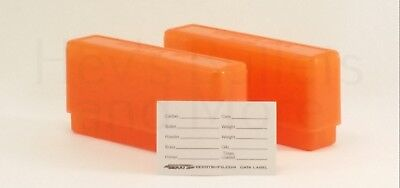 BERRY'S PLASTIC AMMO BOXES (2) ORANGE 20 Round 243 / 308 / More - FREE  SHIPPING