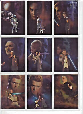 Star Wars Attack of the Clones - Silver Chase Card Set (10) - NM