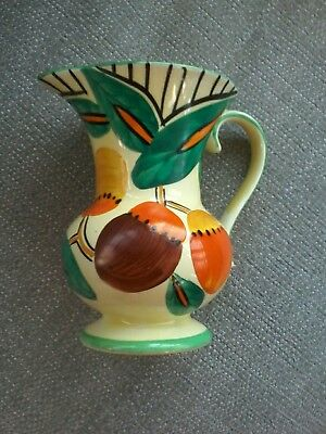 Devon Ware Fieldings Art Deco Style Jug, 1930's?. Lovely Yellow. Height 14Cm.