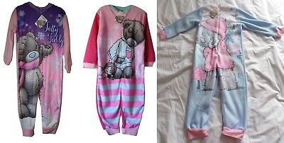 Tatty Teddie All in one Sleepsuit Onesy Girls Cute 3 Styles Xmas Pyjamas Sizes