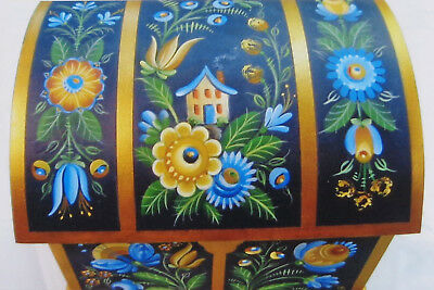 "Mary Svenson tole painting pattern ""Os Rosemaling with Contemporary Flare"""