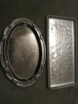 Sterling Silver and aluminum Serving Trays