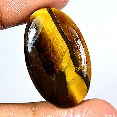 36.30Ct 32x20mm 100% Natural Multi Color Tiger Eye Oval Cabochon Classic Gems